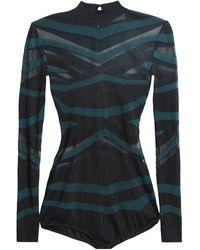 Zuhair Murad Intarsia-knit Bodysuit Black