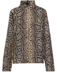 Victoria Beckham Snake-print Silk-twill Blouse - Multicolour