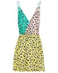Love Moschino - Leopard-print Crepe De Chine Dress Animal Print - Lyst