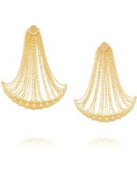 Arme De L'Amour - Bamboo Fringed Gold-plated Earrings - Lyst