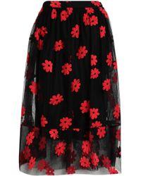 Simone Rocha - Embroidered Cotton-blend Tulle Midi Skirt - Lyst