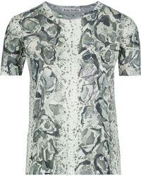 Acne Studios Tessa Snake-print Coated-jersey T-shirt Mint - Multicolor