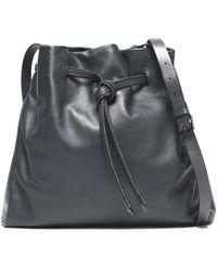 f62533c733 Halston Heritage Metallic Cracked-leather Shoulder Bag - Lyst