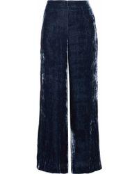 STAUD - Margaux Velvet Wide-leg Pants - Lyst