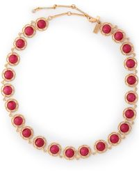 Kate Spade - Gold-tone Crystal Necklace - Lyst