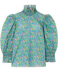 Horror Vacui - Collia Floral-print Cotton-poplin Blouse - Lyst