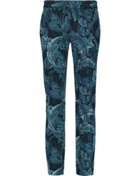 Marc By Marc Jacobs - Printed Crepe Slim-leg Trousers - Lyst