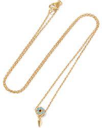 Iam By Ileana Makri - Spike Eye Bronze And Gold-plated Cubic Zirconia Necklace - Lyst