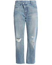 Rag & Bone - Wicked Cropped Distressed Boyfriend Jeans - Lyst