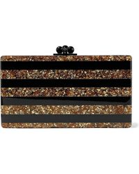 Edie Parker - Jean Striped Glittered Acrylic Box Clutch - Lyst