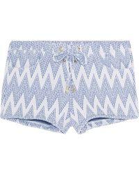 Melissa Odabash Shelly Jacquard-knit Shorts - White