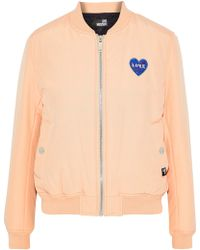 Love Moschino - Appliquéd Cotton-blend Faille Bomber Jacket - Lyst