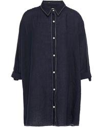 Seafolly Linen Shirt - Blue