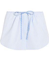 Alexander Wang - Striped Cotton Shorts - Lyst