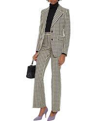 Victoria Beckham Houndstooth Tweed Blazer - Multicolour