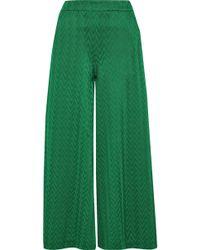 Missoni Crochet-knit Culottes Green
