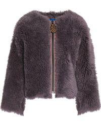 M.i.h Jeans Woman Shearling Coat Violet - Purple