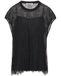 McQ Chantilly Lace Top Black