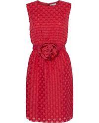 Lanvin - Embellished Fil Coupé Organza Mini Dress - Lyst