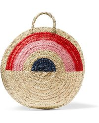 Vanessa Seward - Dakar Painted Straw Tote - Lyst