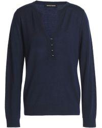 Vanessa Seward - Merino Wool Sweater Navy - Lyst