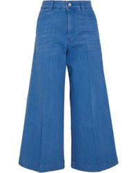 Stella McCartney - Cropped High-rise Flared Jeans - Lyst