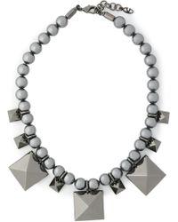 Valentino - Gunmetal-tone Necklace - Lyst