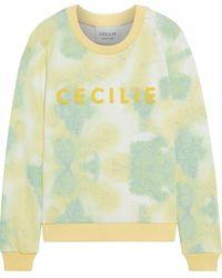 Cecilie Copenhagen Cecilie Copenhagen Ila Appliquéd Tie-dyed French Cotton-terry Sweatshirt - Yellow