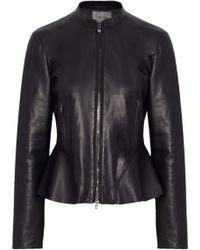DROMe - Leather Peplum Jacket - Lyst