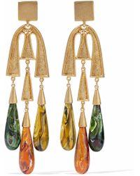 Ben-Amun - Gold-tone Resin Earrings - Lyst