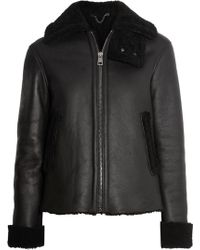 Iris & Ink - Jeannie Shearling-trimmed Leather Coat - Lyst