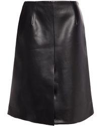 Maison Margiela Faux Leather Skirt - Black