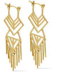 Noir Jewelry 14-karat Gold-plated Earrings Gold - Metallic
