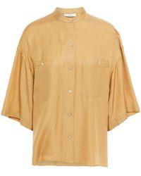 Vince - Hemd Aus Twill Aus Einer Seidenmischung Größe Xs - Lyst