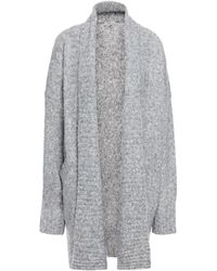 Joie Gwenna Mélange Knitted Cardigan Stone - Gray