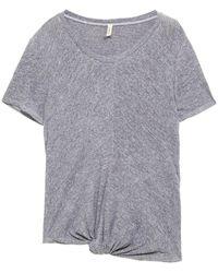 Lanston Knotted Mélange Slub Jersey Top - Grey