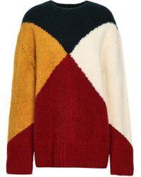 Derek Lam Color-block Intarsia-knit Jumper Multicolour