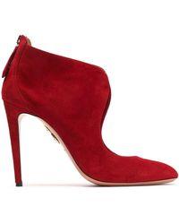 Aquazzura - Suede Court Shoes - Lyst