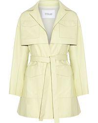 10 Crosby Derek Lam Leather Coat - Green