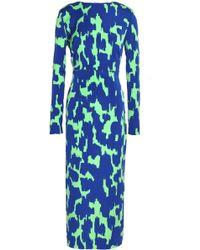 Diane von Furstenberg - Printed Crepe Midi Dress - Lyst
