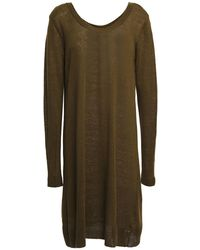 American Vintage Flaxcity Linen-jersey Tunic - Green