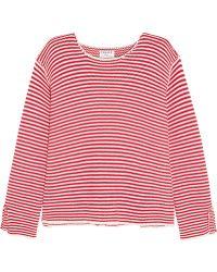 FRAME - Le Knit Crew Striped Cotton Jumper - Lyst