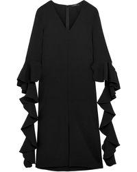 Ellery Reuben Ruffled Crepe Midi Dress - Black