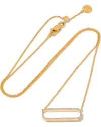 Monica Vinader - Diva Gold-plated Diamond Necklace - Lyst