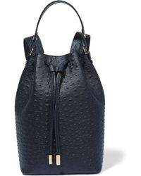 Iris & Ink - Ostrich-effect Leather Backpack - Lyst