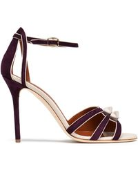 Malone Souliers - Knotted Leather And Suede Sandals - Lyst