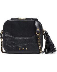 Jérôme Dreyfuss Jérôme Dreyfuss Tasselled Textured-leather Shoulder Bag Black