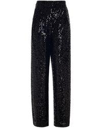 10 Crosby Derek Lam Galen Sequined Velvet Wide-leg Trousers - Black