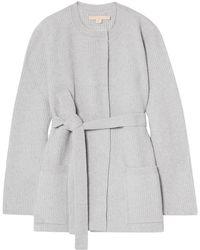 Brock Collection Medium Knit Light Grey