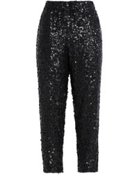 Joie - Aife Sequined Crepe Tapered Trousers - Lyst